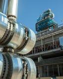 Metallrohre der metallurgischen Anlage Stockfoto