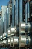 Metallrohre der metallurgischen Anlage Lizenzfreie Stockbilder