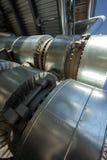 Metallrohre der metallurgischen Anlage Stockbild