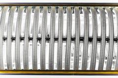 Metallrohre des Warmwasserbereitungskessels Stockbilder