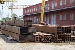 Metallrohre verschiedene Abschnitte lizenzfreies stockbild