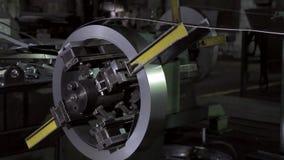 Metallrohstoffe für das Stempeln stock video footage