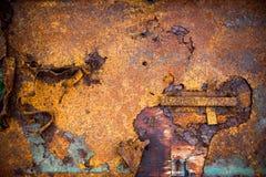 Metallrostbakgrund, metallrosttextur Royaltyfria Bilder