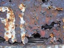 Metallrosthintergrund Stockfotos