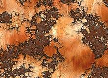 Metallrostige Beschaffenheit. gemalte Hintergründe Stockfotografie