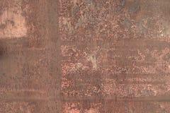 Metallrostige Beschaffenheit Zerschlagener Metallhintergrund Stockfotografie