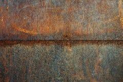 Metallrostige Wand Lizenzfreie Stockfotografie