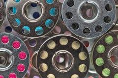 Metallrullar av trådar Royaltyfri Fotografi