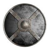 Metallrundes Schild lokalisiert auf Weiß Lizenzfreie Stockfotografie