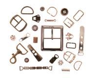 Metallsömnadmonteringar royaltyfria bilder