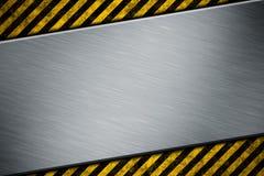 Metallschablone mit warnendem Streifen Lizenzfreie Stockfotos