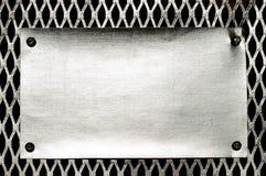 Metallschablonenhintergrund Lizenzfreies Stockfoto