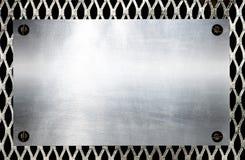 Metallschablonenhintergrund Stockfotografie