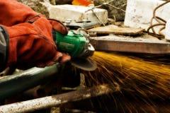 Metallscherblock lizenzfreie stockfotos