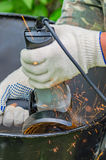 Metallschleifmaschine Stockfotografie