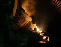 Metallschmelzen Lizenzfreie Stockfotografie