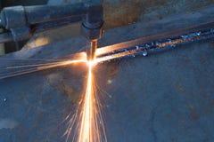 Metallschneidend Stockfoto