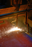 metallschneidend mit Acetylen Stockfotos