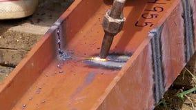 Metallschneidend mit Hitze eigenhändig Lizenzfreies Stockfoto