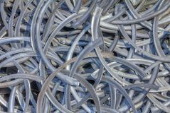 Metallschnitzel Stockfoto