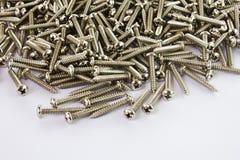 Metallschrauben. Stockbild