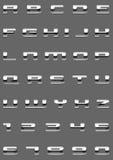 Metallschrifttyp Lizenzfreie Stockbilder