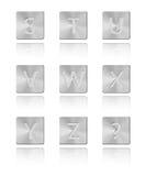 Metallschrifttyp Taste S - Z Stockfotografie