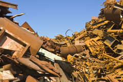 Metallschrott-Haufen Stockfotografie