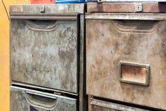 Metallschubladenschrank Lizenzfreies Stockfoto