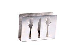 Metallseidenpapierhalter Stockbild