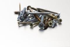 Metallskruvar Fotografering för Bildbyråer