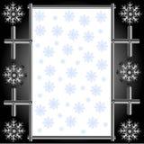 metallsnowflakes Royaltyfri Fotografi