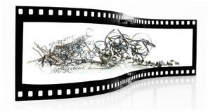 Metallspäne-Filmstreifen Stockfoto