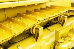 Metallspår på traktoren Royaltyfri Fotografi