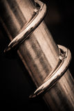 Metallspiral Arkivbild