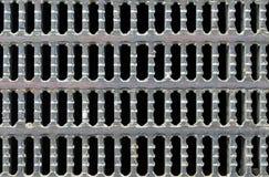 Metallspisgallerbakgrund med gallermodellen Royaltyfri Fotografi