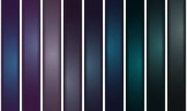 Metallstänger med olika färger Vektor Illustrationer