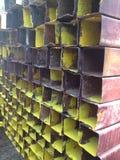 Metallstahlkastenbeschaffenheit Stockbilder