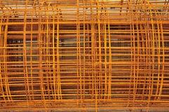 Metallstange mit dem Rost bedeckt Stockbilder