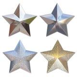 metallstjärnor Arkivbild