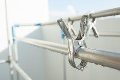 Metallstoffklammern Stockbilder