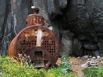 metallstruktur i natur Royaltyfri Fotografi
