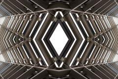 Metallstruktur som är liknande till rymdskeppinre Royaltyfri Bild