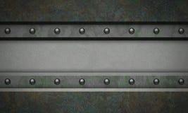 Metallstrukturierter Hintergrund stock abbildung