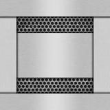 Metallstrukturierter Hintergrund Stockbild
