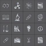 Metallsymboler av en vetenskap Arkivfoton
