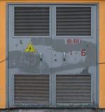 Metalltüren lizenzfreie stockbilder