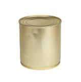 Metalltenn av förtätat mjölkar Arkivbilder