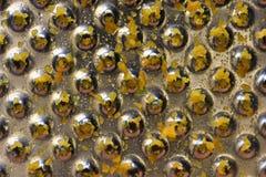 Metalltextur av det använda rivjärnet Royaltyfri Foto