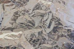 metalltextur för aluminum folie Royaltyfria Bilder